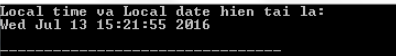 Hàm localtime() trong thư viện C chuẩn