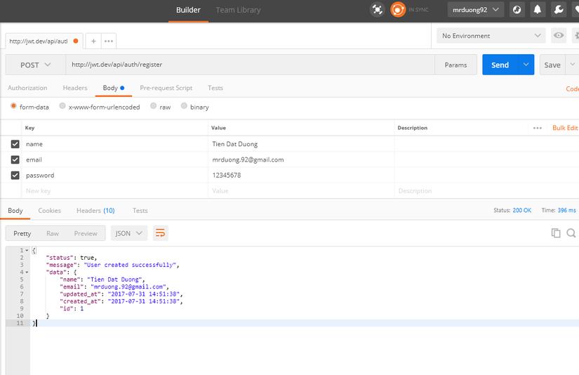 API Authentication sử dụng JWT trong Laravel image 1