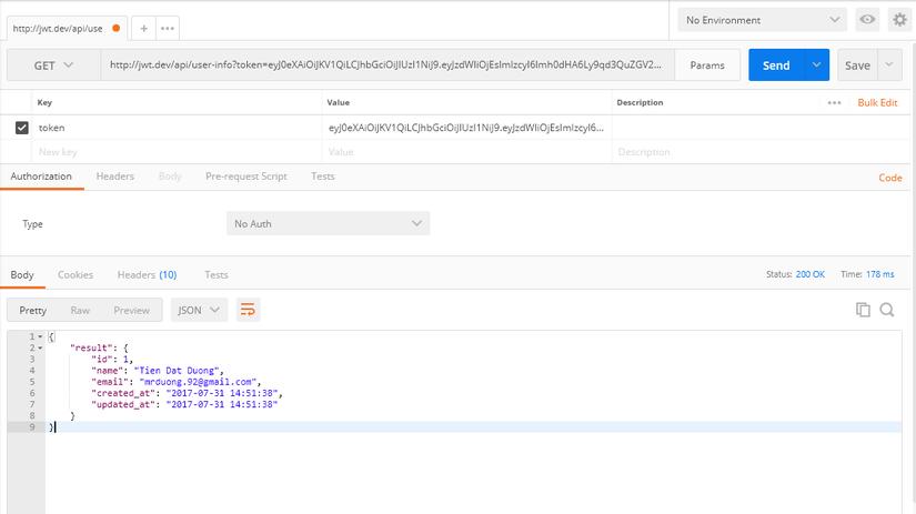 API Authentication sử dụng JWT trong Laravel image 3