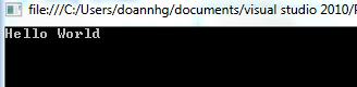Chương trình Hello World trong C#