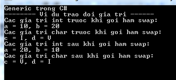 Generic trong C#