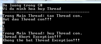Đa luồng trong C#