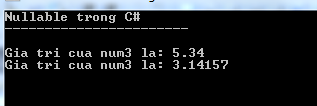 Nullable trong C#
