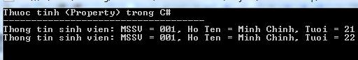 Thuộc tính trong C#
