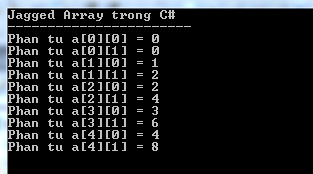 Jagged array trong C#