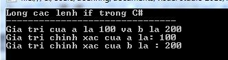 lồng các lệnh if-else trong C#