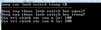 Lồng lệnh switch trong C#