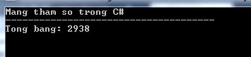 Mảng tham số trong C#
