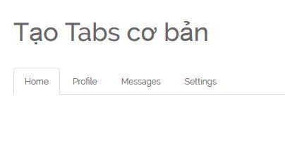 Tạo Tabs bằng Bootstrap image 1